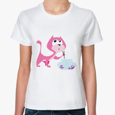 Классическая футболка Sushi Cat