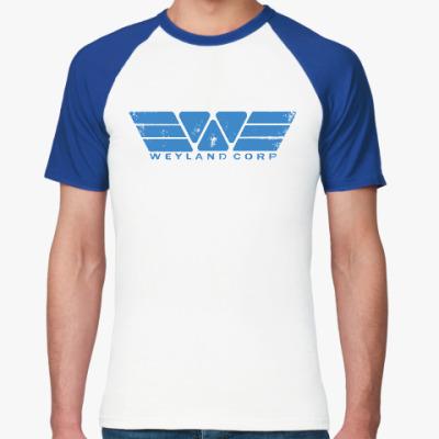 Футболка реглан Чужой. Weyland-Yutani Corp
