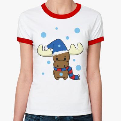 Женская футболка Ringer-T Маленький олень