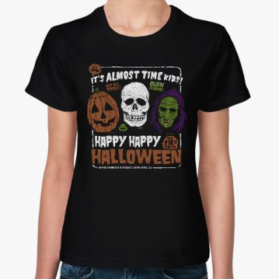 Женская футболка Счастливого Хэллоуина