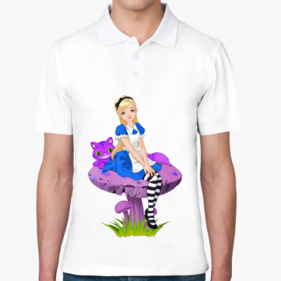 Рубашка поло Алиса в Стране чудес