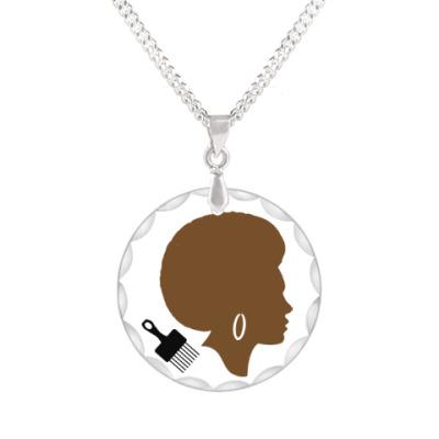 Кулон Afro Lady
