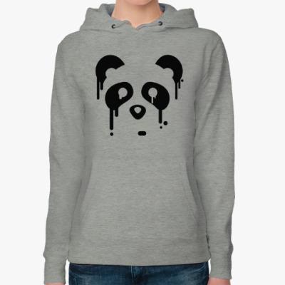 Женская толстовка худи Унылая панда