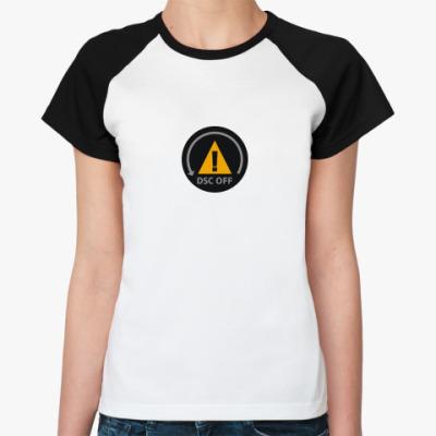Женская футболка реглан   DSC OFF