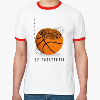 Футболка Ringer-T Планета баскетбола