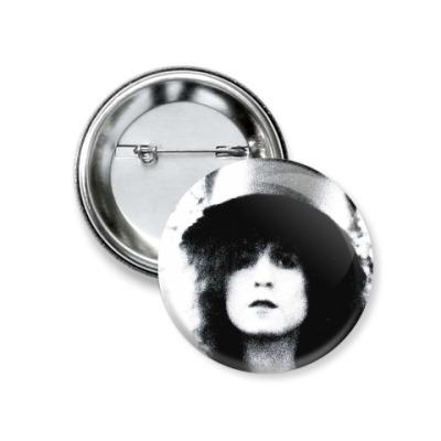 Значок 37мм Marc Bolan, T.Rex