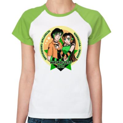 Женская футболка реглан  WASABI-FEST 2011