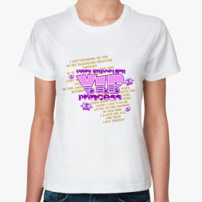 Классическая футболка V.I.P. princess