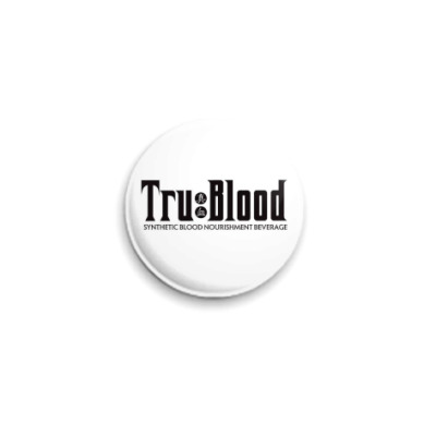 "Значок 25мм  ""True Blood"" ч/б"