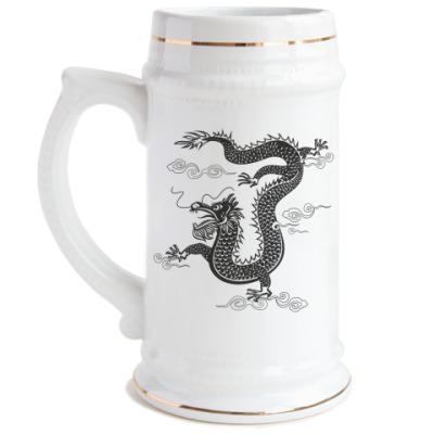 Пивная кружка Китайский дракон