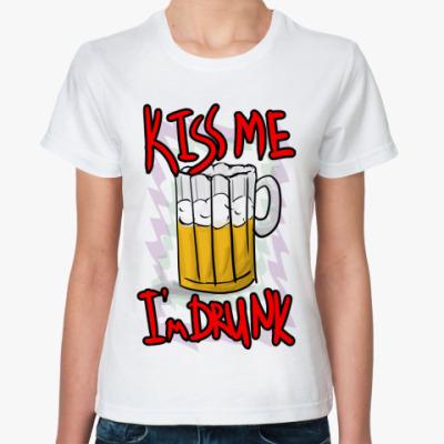 Классическая футболка Поцелуй меня