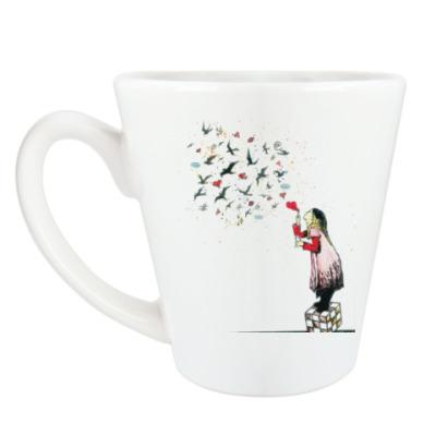 Чашка Латте Смайлы души
