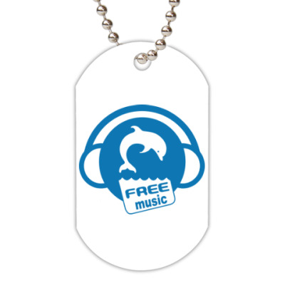 Жетон dog-tag Free Music