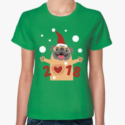 Женская футболка Год Собаки