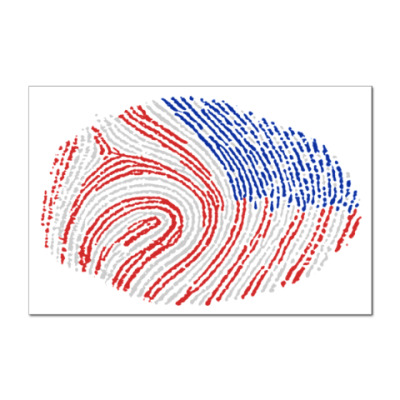 Наклейка (стикер) USA отпечаток