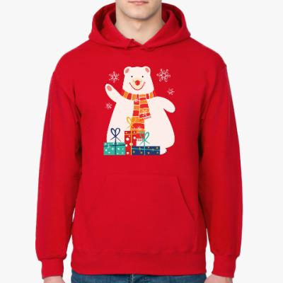 Толстовка худи Медведь с подарками