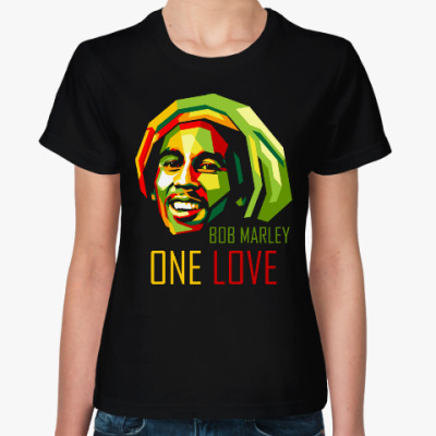 Женская футболка Боб Марли