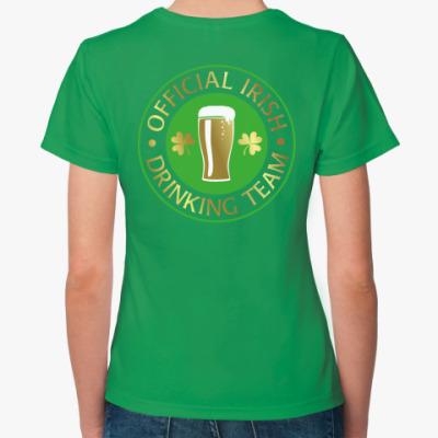 Женская футболка Irish drinking team