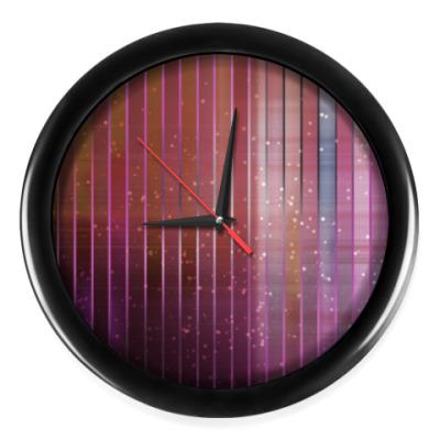 Настенные часы Космос в полоску