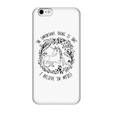 Чехол для iPhone 6 Единорог - Я верю в себя!