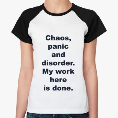 Женская футболка реглан Паника