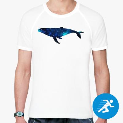 Спортивная футболка Космический кит