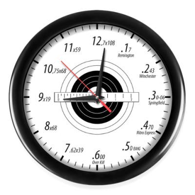 Настенные часы Калибры нарезного оружия