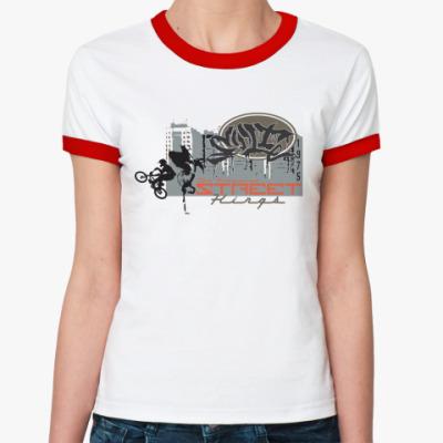 Женская футболка Ringer-T Street Kings BMX