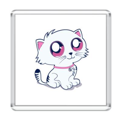 Магнит ик с пуффыстой котей