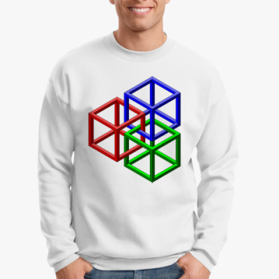 Свитшот Невозможные кубы