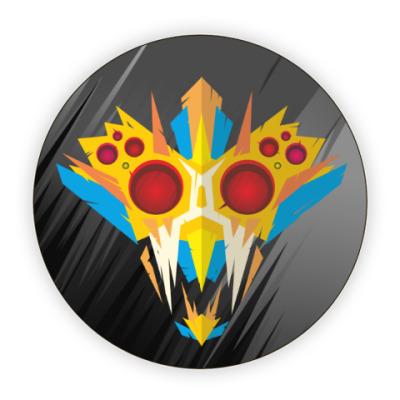 Костер (подставка под кружку) Ритуальная маска воина