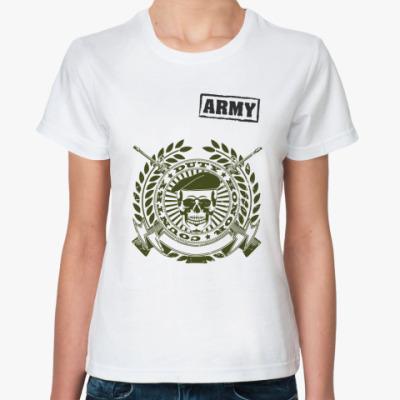 Классическая футболка Череп в берете