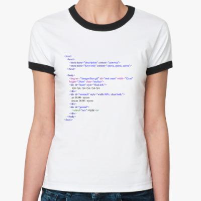 Женская футболка Ringer-T HTML