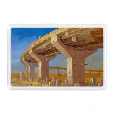 Магнит Футуристический мост