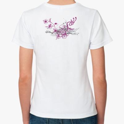 Классическая футболка  футболка Flowers#2
