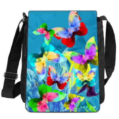 Сумка-планшет Акварельные бабочки