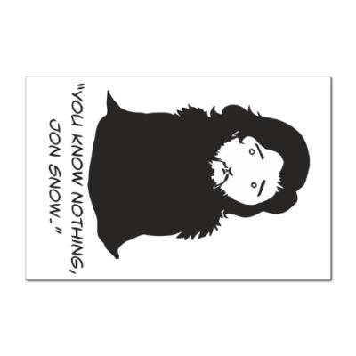 Наклейка (стикер) Джон Сноу