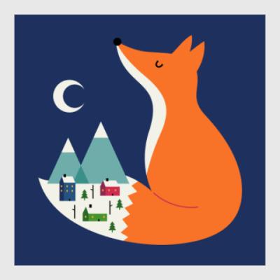 Постер Зимний лис