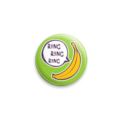 Значок 25мм Banana phone