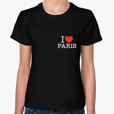 Женская футболка I love Paris