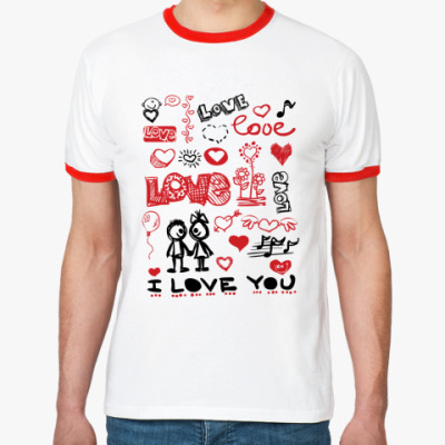 Футболка Ringer-T Love mix