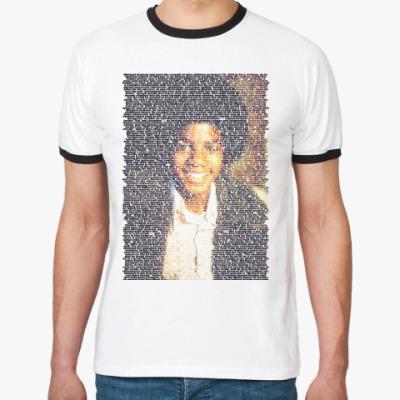 Футболка Ringer-T Майкл Джексон