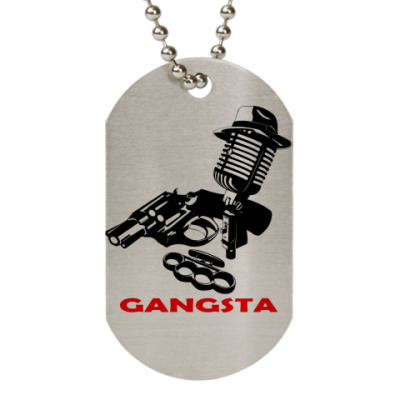 Жетон dog-tag Rap Gangsta
