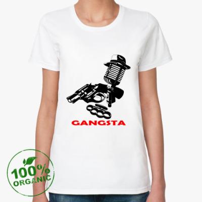 Женская футболка из органик-хлопка Rap Gangsta