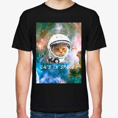 Футболка котейка космонавт