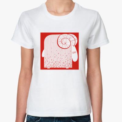 Классическая футболка  'Баран'
