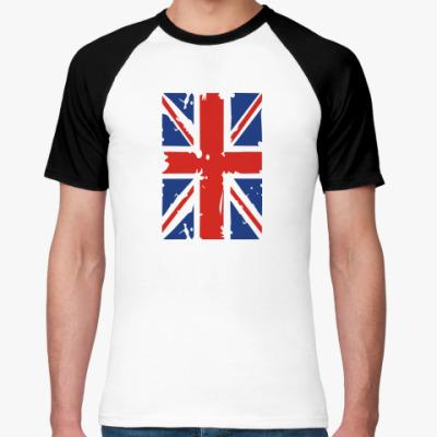 Футболка реглан Британский флаг
