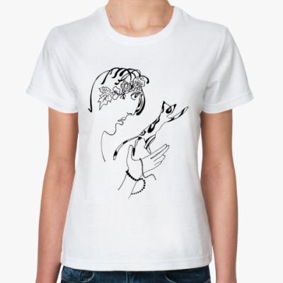 Классическая футболка  Коты в полете