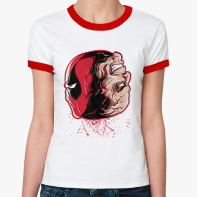 Женская футболка Ringer-T Дэдпул - Уилсон