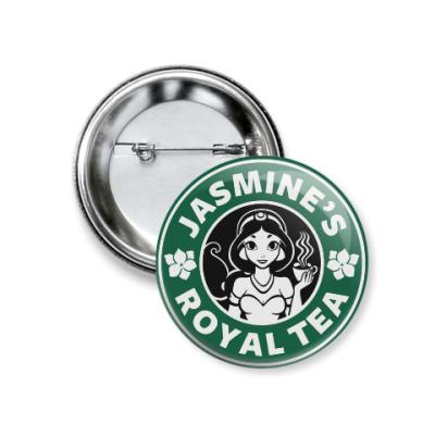 Значок 37мм Жасминовый чай